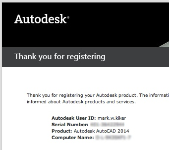 2013 autocad serial number and product key